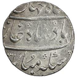 MUGHAL: Shah Jahan II, 1719, AR rupee (11.54g), Surat, AH1131 year one (ahad). AU