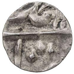 MUGHAL: Muhammad Shah, 1719-1748, AR 1/32 rupee (0.36g) (Khujista Bunyad), year 14. EF-AU