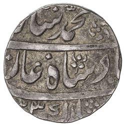 MUGHAL: Muhammad Shah, 1719-1748, AR rupee, Lakhnau, AH1123 (sic) year 2. VF