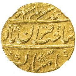 MUGHAL: Muhammad Shah, 1719-1748, AV mohur, Shahjahanabad (Delhi), AH1133 year 2. NGC MS64
