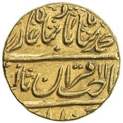 MUGHAL: Muhammad Shah, 1719-1748, AV mohur (10.84g), Shahjahanabad (Delhi), AH11xx year 21. EF