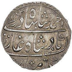 MUGHAL: Ahmad Shah Bahadur, 1748-1754, AR rupee (11.36g), Narwar, AH1163 year 4. EF