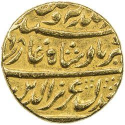 MUGHAL: Alamgir II, 1754-1759, AV mohur (10.82g), Shahjahanabad (Delhi), year 2. EF