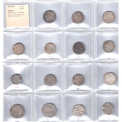 MUGHAL: Shah Alam II, 1759-1806, LOT of 15 rupees