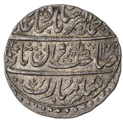 MUGHAL: Muhammad Akbar II, 1806-1837, AR nazarana style rupee, Shahjahanabad, AH1224 year 3. AU