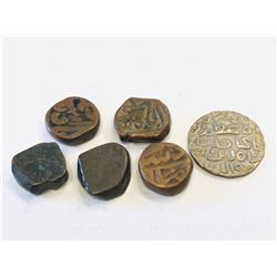 MUGHAL & SULTANATES:LOT of 74 Mughal & Sultanate coins