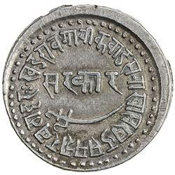 BARODA: Khande Rao, 1856-1870, AR nazarana rupee (11.41g), Baroda, AH1287. EF