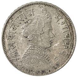 BARODA: Sivaji Rao III, 1875-1938, AR rupee, year. AU