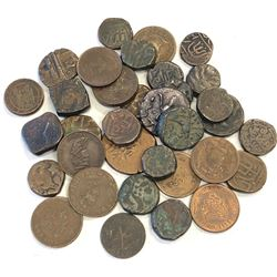 GWALIOR:LOT of 34 copper coins
