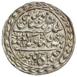 JAIPUR: Madho Singh II, 1880-1922, AR nazarana rupee (11.41g), Sawai Jaipur, 1908 year 29. UNC