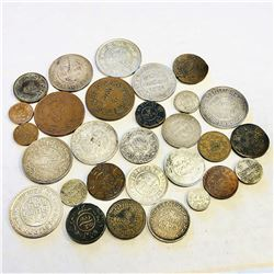 KUTCH:LOT of 16 silver and 13 copper coins