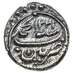 MYSORE: Tipu Sultan, 1782-1799, AR kazimi (1/16 rupee) (0.71g), Patan, AM1221 year 11. EF
