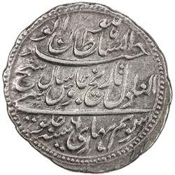 MYSORE: Tipu Sultan, 1782-1799, AR rupee (11.32g), Patan, AM1216 year 6. VF