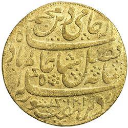 """BENGAL PRESIDENCY: AV mohur (12.31g), """"Murshidabad"""", AH1202 year 19. EF"""