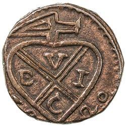 BOMBAY PRESIDENCY: AE pice (7.30g), Bankot, 1820. EF