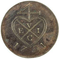 BOMBAY PRESIDENCY: AE pice (6.15g), Soho, Birmingham, 1791. PF