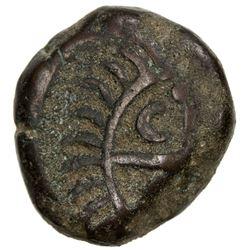 MADRAS PRESIDENCY: AE dudu (10 cash) (8.30g), 1744. VF