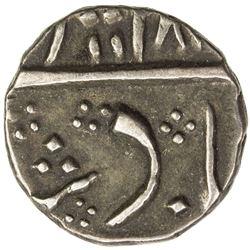 MADRAS PRESIDENCY: AR 1/4 rupee (2.76g), Masulipatam, AH118x. VF