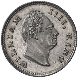 BRITISH INDIA: William IV, 1830-1837, AR 1/4 rupee, 1835. AU