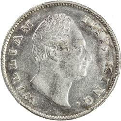 BRITISH INDIA: William IV, 1830-1837, AR rupee, 1835(c). PCGS AU58