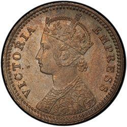 BRITISH INDIA: Victoria, Empress, 1876-1901, AR 1/4 rupee, 1898-C. PCGS MS64