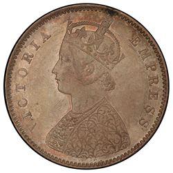 BRITISH INDIA: Victoria, Empress, 1876-1901, AR 1/2 rupee, 1892-B. PCGS MS63