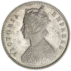 BRITISH INDIA: Victoria, Empress, 1876-1901, AR 1/2 rupee, 1896-C. AU