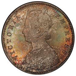 BRITISH INDIA: Victoria, Empress, 1876-1901, AR 1/2 rupee, 1898-C. PCGS MS64
