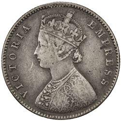 BRITISH INDIA: Victoria, Empress, 1876-1901, AR 1/2 rupee, 1878(c). VF