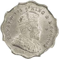 BRITISH INDIA: Edward VII, 1901-1910, 1 anna, 1907-B. NGC MS64