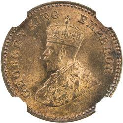 BRITISH INDIA: George V, 1910-1936, AE 1/12 anna, 1914(c). NGC MS66