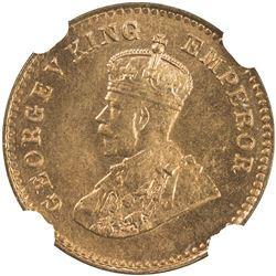 BRITISH INDIA: George V, 1910-1936, AE 1/12 anna, 1928(b). NGC MS66