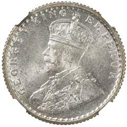 BRITISH INDIA: George V, 1910-1936, AR 1/4 rupee, 1936(c). NGC MS67