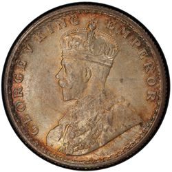 BRITISH INDIA: George V, 1910-1936, AR ½ rupee, 1923(c), KM-522, S& W-8.97, PCGS graded MS65