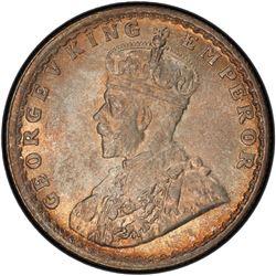BRITISH INDIA: George V, 1910-1936, AR 1/2 rupee, 1925(b). PCGS MS65
