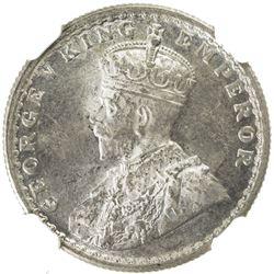 BRITISH INDIA: George V, 1910-1936, AR 1/2 rupee, 1930(c). NGC MS63