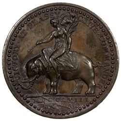 BRITISH INDIA: AE medal (25.00g), 1758 [1757]. AU
