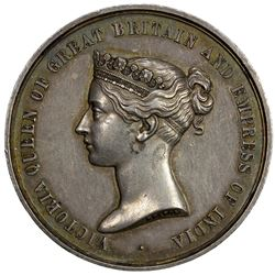 BRITISH INDIA: AR medal (49.92g), 1869. EF