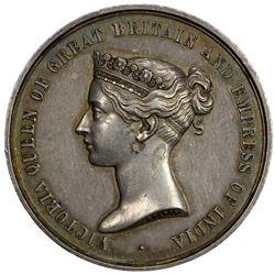 BRITISH INDIA: AR medal (49.92g), 1869. EF