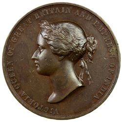 BRITISH INDIA: Victoria, Empress, 1876-1901, AE medal (30.66g), 1888. VF-EF