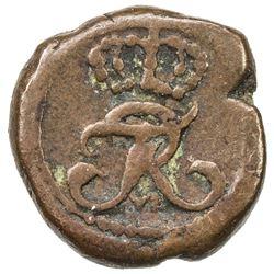 TRANQUEBAR: Frederik VI, 1808-1839, AE 1 kas (0.59g), 1819. VF