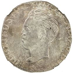 GOA: Luiz I, 1861-1889, AR rupia, DM (1866-69). NGC MS62