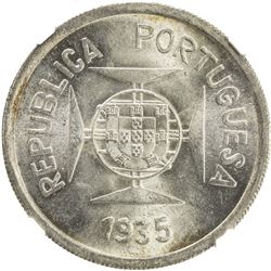 PORTUGUESE INDIA: AR rupia, 1935. NGC MS65