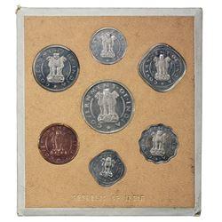 INDIA: Republic, 7-coin proof set, 1954(b). PF