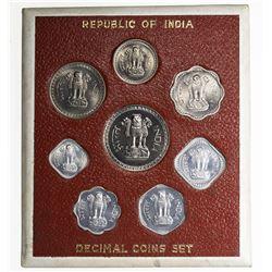 INDIA: Republic, 8-coin proof set, 1967(b). PF