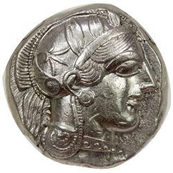ATHENS: Anonymous, 449-413 BC, AR tetradrachm (18.17g), Athens. NGC AU