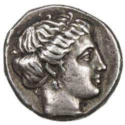 EUBOEA: AR drachm (3.74g), ND (357-267 AD). VF
