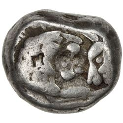 LYDIA: Sardes: Kroisos or later, ca. 560-500 BC, AR 1/2 stater (5.35g). F