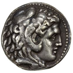 MACEDONIAN KINGDOM: Alexander III, the Great, 336-323 BC, AR tetradrachm (17.04g), Babylon mint. VF-