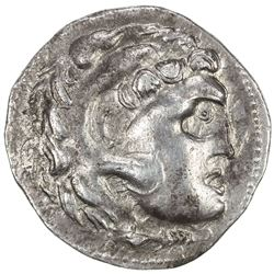 MACEDONIAN KINGDOM: Alexander III, the Great, 336-323 BC, AR tetradrachm (16.59g), undated. VF